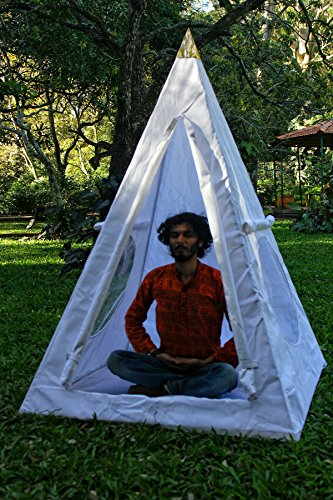 Fully Covered Nubian Copper Framed Meditation Pyramid 4 Feet Base