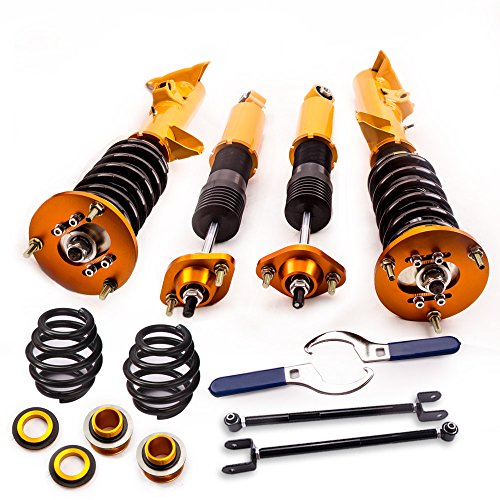 for BMW 3 Series E36 318i 318is 318ic 323i 323ic 323is 328i 328is 328ic M3 1992-1999 Silver Coilovers and Rear Lower Camber Control Arms