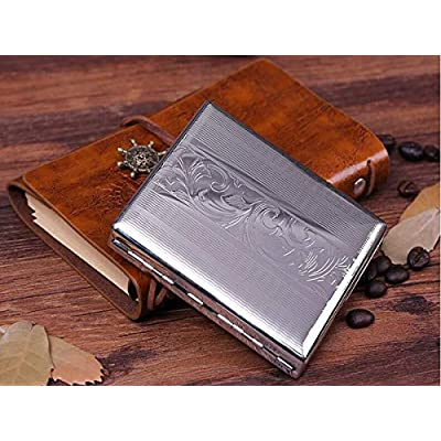QINRUIKUANGSHAN Cigarette Case, 20 Packs of Ultra-Thin Automatic Personality Creative Lettering Men and Women Gift Smoking, 3 Styles Optional (Color : A): Sports & Outdoors