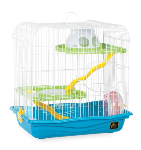 Prevue Pet Products SP2004BL Hamster Haven, Medium, Blue (Best Cage For Teddy Bear Hamster)