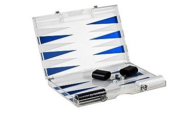 Amazon infinity 18 lucite backgammon set blue toys games infinity 18quot lucite backgammon publicscrutiny Choice Image