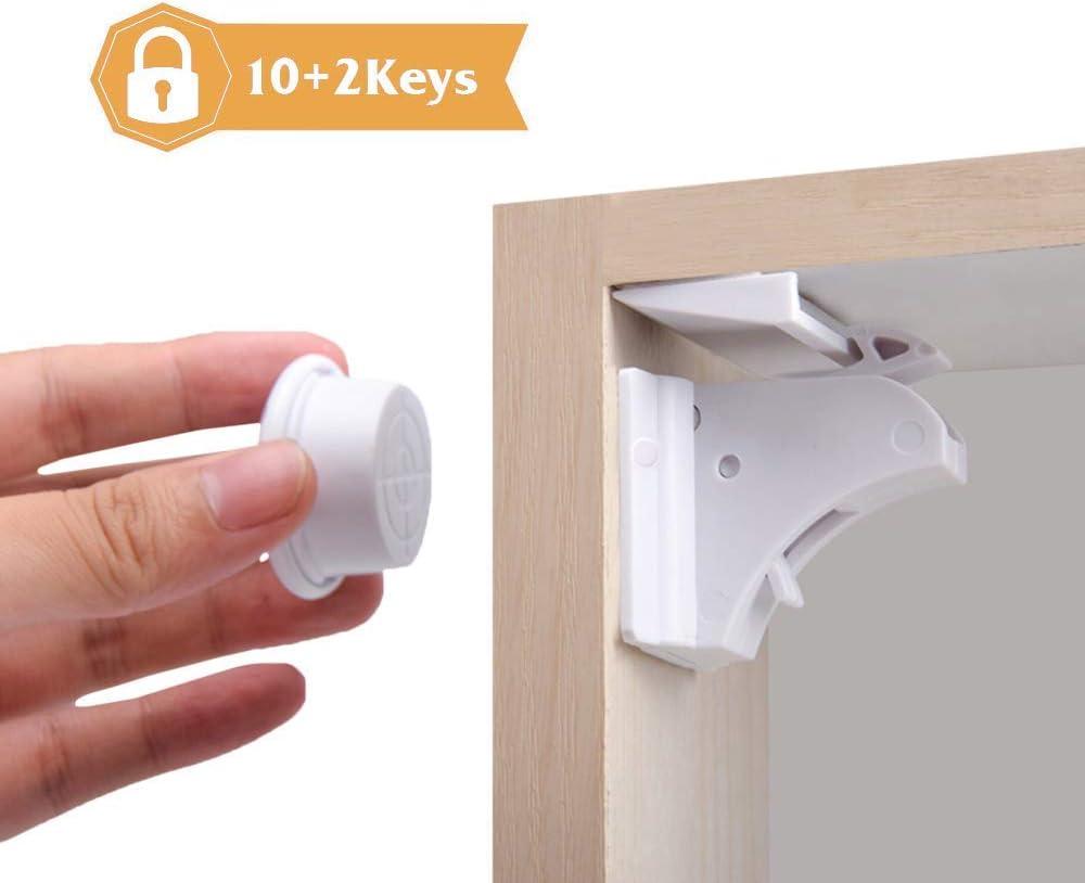 Brave World Child Safety Magnetic Cupboard Locks Designed For Child  Baby Safe