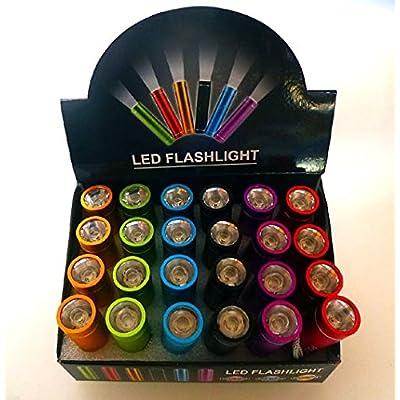 1x - Lampe de poche étanche `Powerlight` 5W coloris assortis 9cm - Qualité COOLMINIPRIX®