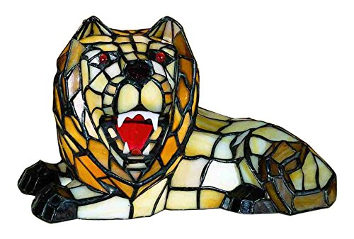 Meyda Tiffany 18465 Lion Accent Lamp, 7