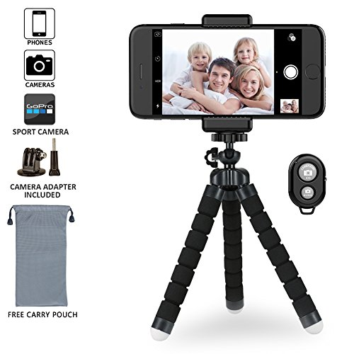 Phone Tripod Flexible Tripod With Wireless Remote Shutter For Iphone