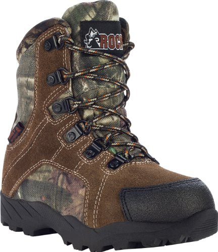 Rocky Unisex FQ0003710 Mid Calf Boot, Mossy Oak Break up Infinity Camouflage, 3.5 M US Big Kid
