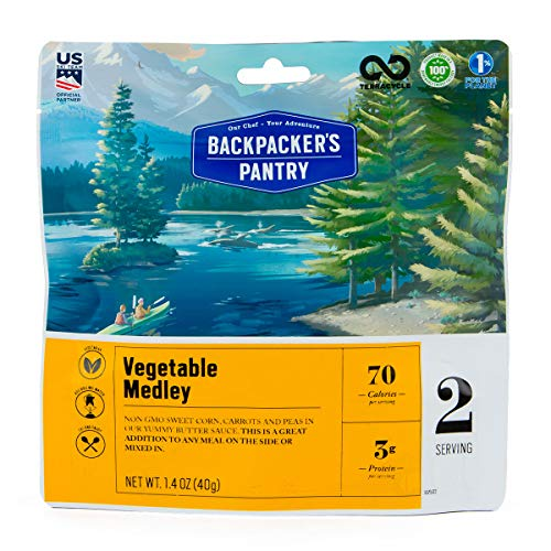 Backpacker's Pantry Vegetable Medley with Peas, Carrots, Corn, Two Serving Pouch, (Packaging May ()