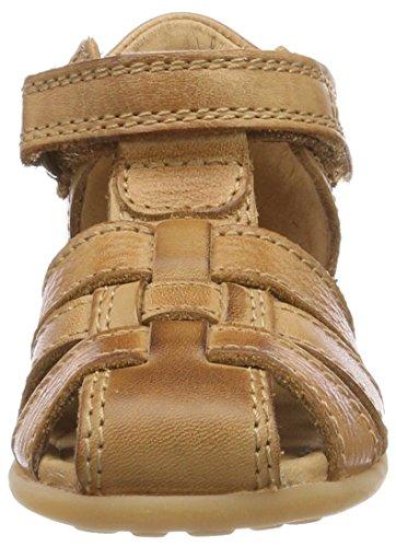 Bisgaard Sandalen 71208114 - Sandalias de cuero para unisex-niño, color amarillo, talla 20 Marrón (Cognac)