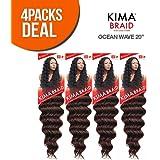 """Harlem125 Synthetic Hair Braids Kima Braid Ocean Wave 20"""""""