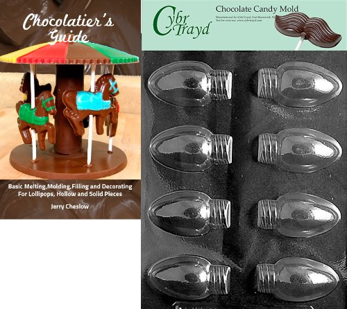 - Cybrtrayd 'Christmas Lights' Christmas Chocolate Candy Mold with Chocolatier's Guide