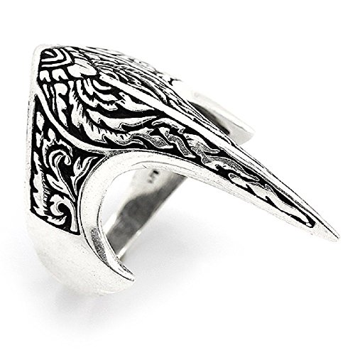 argunjewellery Turkish Jewelry Zihgir Ottoman Nice 925K Sterling Silver Men's Thumb Ring ()