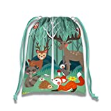Woodland Animals Drawstring Bags Kids Birthday Party Supplies Favor Bags 10 Pack