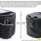 CeleMoon Universal Stroller Organizer Bag - Premium Quality Stroller Fits All Baby Strollers - BONUS Handy Stroller Hook (Black)