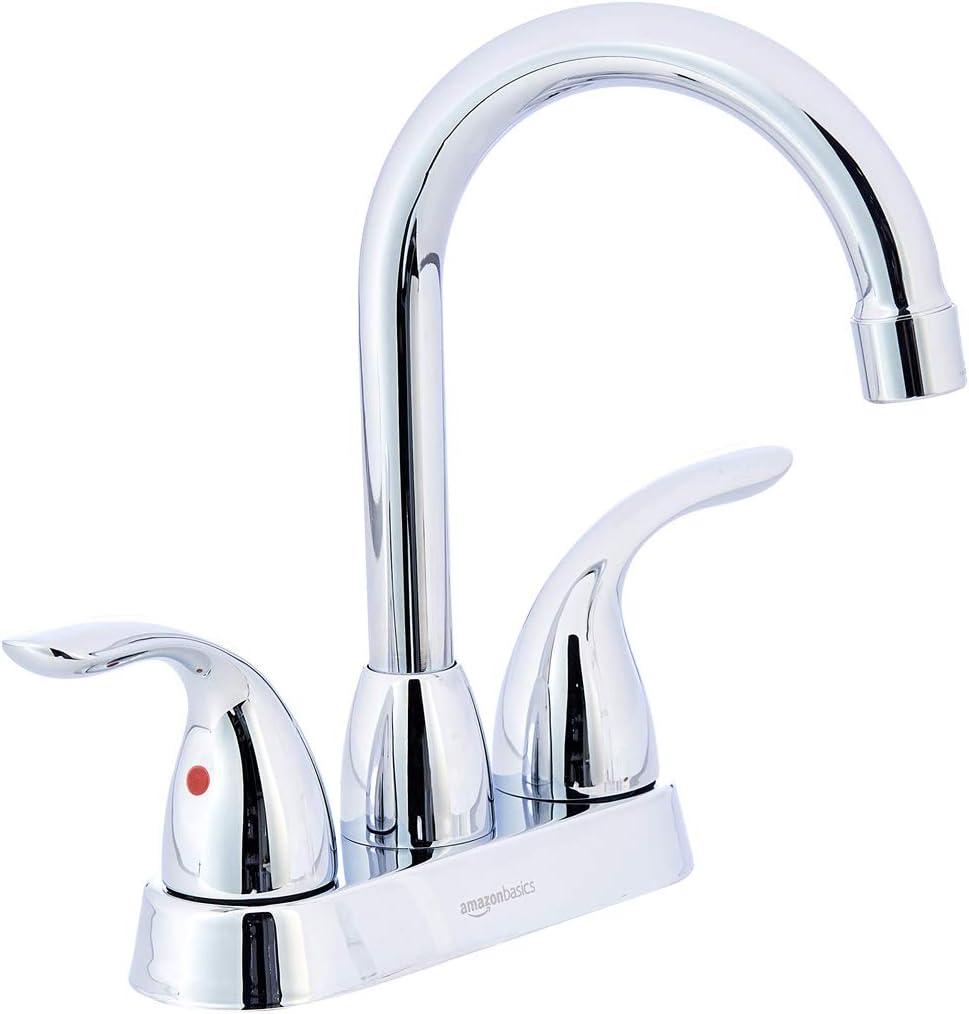 AmazonBasics AB-BF608-PC Basin Faucet-4-Inch, Polished Chrome