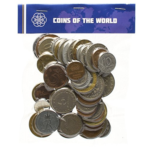 Sets Coin Euro (LOT OF DIFFERENT FOREIGN COINS COLLECTION MONEY SET FROM ALL OVER THE WORLD (50))