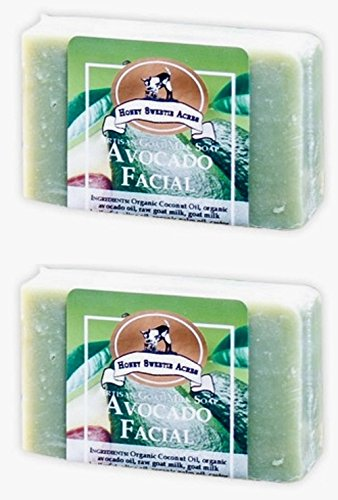 - Premium Handcrafted Artisan Goat Milk Avocado Facial Soap Bar - FEELS SO WONDERFUL on your skin that 4 out of 5 customers come back! (Pack of 2)