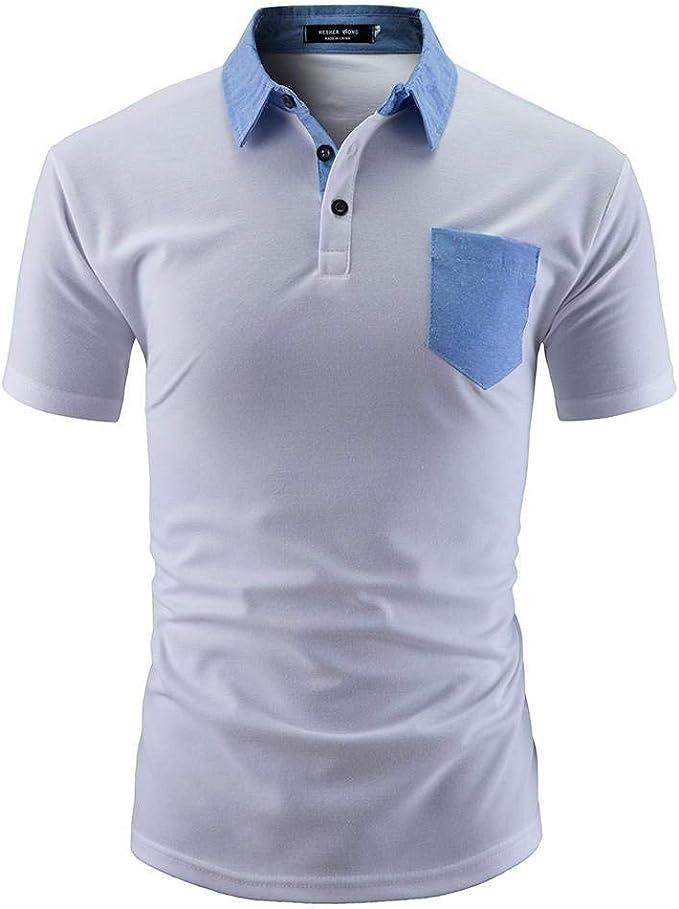 Polo Camisa Hombre Primavera Otoño Camisas De Manga Sólido ...
