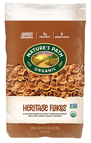 Nature's Path Organic Cereal, Heritage Flakes, 32 Ounce Bag (Pack of 6)