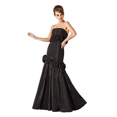 StarGirl Custom Made Womens Trumpet Mermaid Strapless Floor-Length Taffeta Evening  Dress With Flower( 273da2d10d