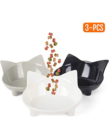 2 X Luxury Porcelain Heavyweight Paw Cat Pet Cream Food Water Bowl Saucer 12cm Be Novel In Design Dishes, Feeders & Fountains