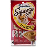 HARTZ Delectables Squeeze up Interactive Wet Cat Treats - Chicken - 32 Tubes