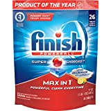 Finish Max in 1 Ultra Degreaser Lemon Automatic Dishwasher Detergent Tablets, 26 Count (Packaging May Vary)