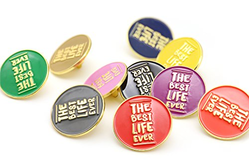 - TONOS JW.Org Present The Best Lift Ever Assort Color Pins Jehovah Witness-Round 10 Pack