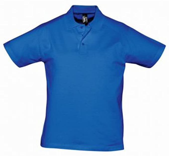 Sol del Prescott para hombre Jersey Polo camisa azul royal S ...