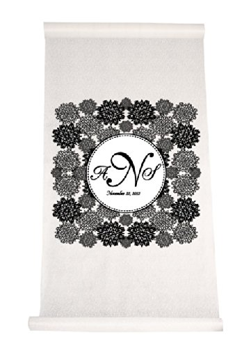 Lace Floral Wedding Aisle Runner FREE PERSONALIZATION 25 Color Options by RaeBella Weddings & Events New York
