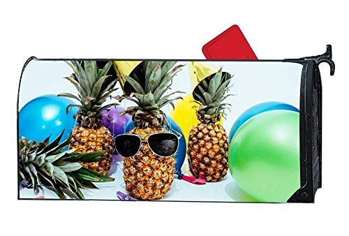 Tollyee Pineapple Dessert Appetizer Magnetic Mailbox Cover Home Magnetic Magnetic Mailbox Cover 9