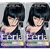 L'Oréal Paris Feria Multi-Faceted Shimmering Permanent Hair Color, 21 Starry Night, 2 COUNT Hair Dye