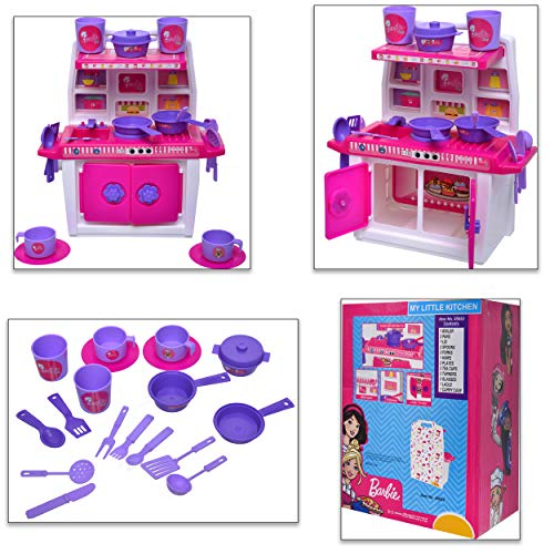 ToyDor Non Toxic BPA-Free Material Plastic Barbie Doll Kitchen Set for Kids (Medium Size, Height 30 Cm Width 21 Cm…