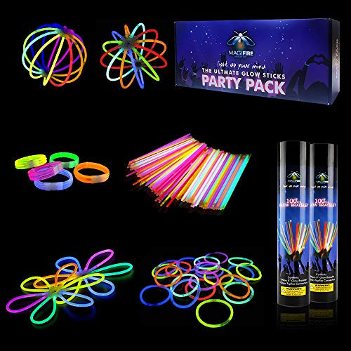MAGIFIRE Glow Sticks, 200 Pcs 8