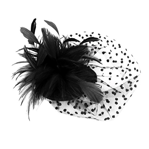 Vintage Flower Feather Fascinator Wedding