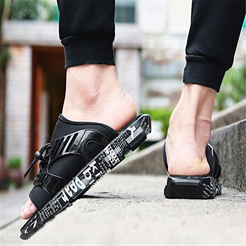 Pantofole Scarpe Nero 42 Scarpe Spiaggia Dimensione EU Wagsiyi Nere Colore Outdoor 2 da Nero Da pantofole Sports Uomo Antiscivolo Da Scarpe 3 spiaggia 5x0Aq4a