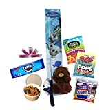 Disney Frozen Olaf Snowman Fishing Pole with Candy Gift Set | Birthday | Summer | Camping | With Fun Edible Craft