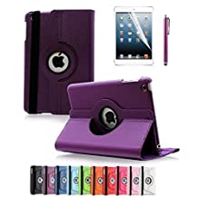Revesun Apple iPad Mini 4 Case - 360 Degree Rotating Stand Case Cover with Auto Sleep / Wake Feature for iPad mini 4 (Purple) ¡­