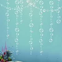 White Transparent Bubble Garlands for Party Decorations Hanging Floating Bubbles Cutout Streamer Background for Mermaid…