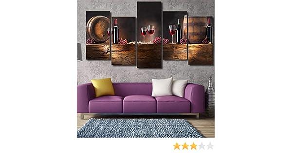 1(with Frames) 40 20 MINRAN DECOR Impresi/ón en Lienzo para Muro Pinturas Enmarcar 6 Piezas Cuadros Vino Tinto Modernos Cuadro Salon Dormitorios Obra de Arte Decoraci/ón del hogar 4 20 55