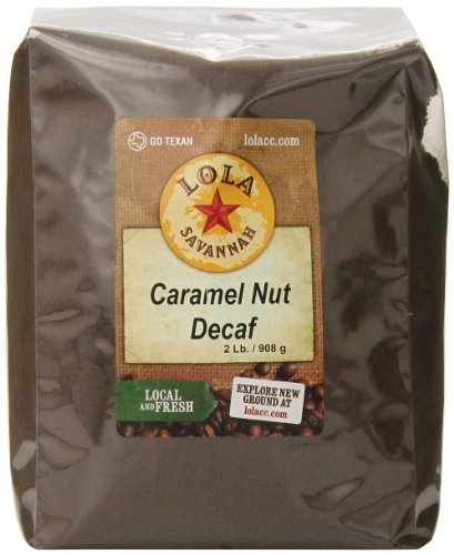 (Lola Savannah Caramel Nut Ground Coffee - Sweet Creamy Carmel & Nuts Transform This Coffee into a Decadent Dessert | Decaf | 2lb Bag)