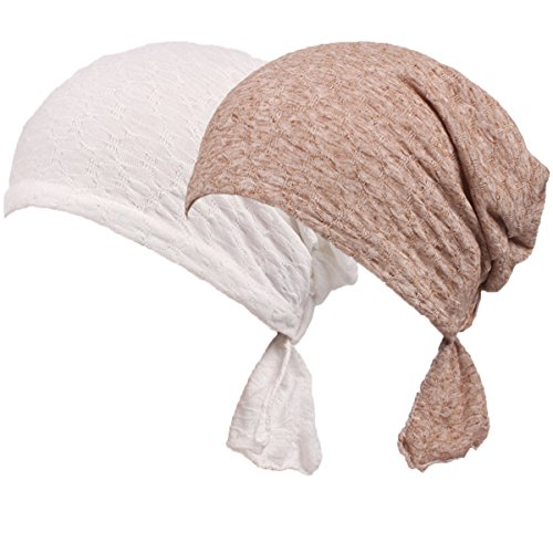 Womens Solid Color Ethnic Cloth Print Turban Headwear Chemo Cancer Head Scarf Hat Cap (Color#2)
