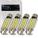 Safego 4x C5W LED Bulb 41mm Canbus Festoon LED 30-3014 Dome Light Error Free for European Car Interior License Plate Courtesy Lights 211-2 578 6000K Xenon White