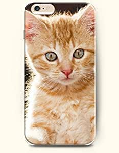iPhone 6 plus Inches Furry Yellow Cat - Hard Back Plastic Phone Cover OOFIT Authentic
