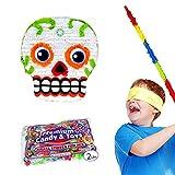 Pinatas Dia de los Muertos Skull Kit, Buster Stick, Bandana and 2 lbs. Filler