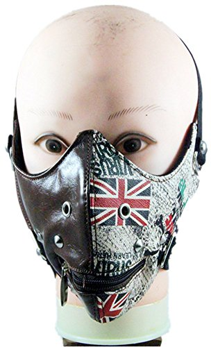 Qiu ping Men and women-style European and American retro England rice flag gothic mask by Qiu ping