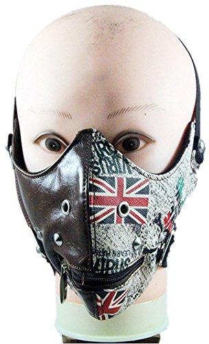 Shu li Men and women-style European and American retro England rice flag gothic mask by Shu li