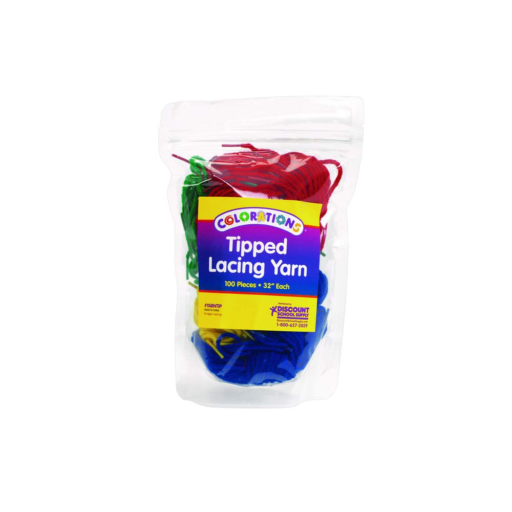 Colorations YARNTIP Tipped Lacing Yarn (Pack of 100)