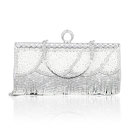 Yyw Evening Bag, Frizione Da Donna Argento Argento