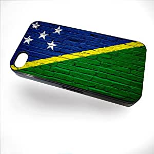 Case for iPhone 4/4S with Flag of Solomon Islands - Bricks