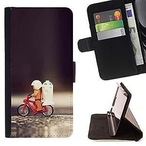 - Funny Toy Bicycle/ Personalizada del estilo del dise???¡¯???¡Ào de la PU Caso de encargo del cuero del tir???¡¯????n del s - Cao - For Samsung Galaxy S6
